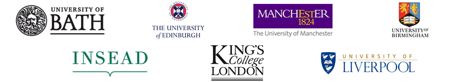 Bath, Edinburgh, Manchester, Birmingham, Southampton, King's College London, Liverpool